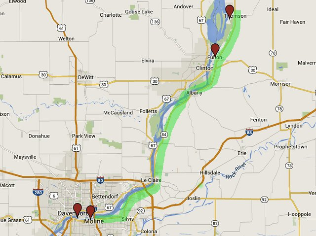 Thomson Illinois Map.Mississippi Great River Road Scenic Byway Scenic Pathways