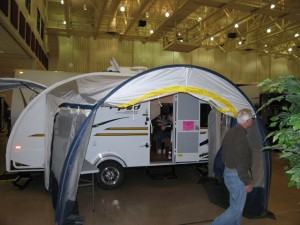 POD camping trailer at LaCrosse Boat Show