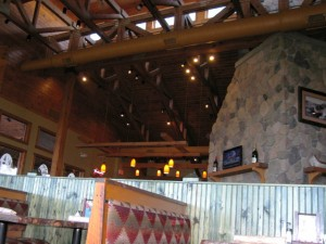 Interior of Explorers Point Restaurant, Ashland, WI