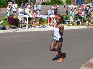 Grandma's Marathon Champion Mary Akor