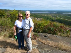 Ross and Jo at Ely Peak, Duluth