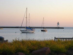 Grand Marais Harbor Fall Picture