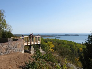 Fall picture from Scenic Highway 61 Overlook of Grand Portage