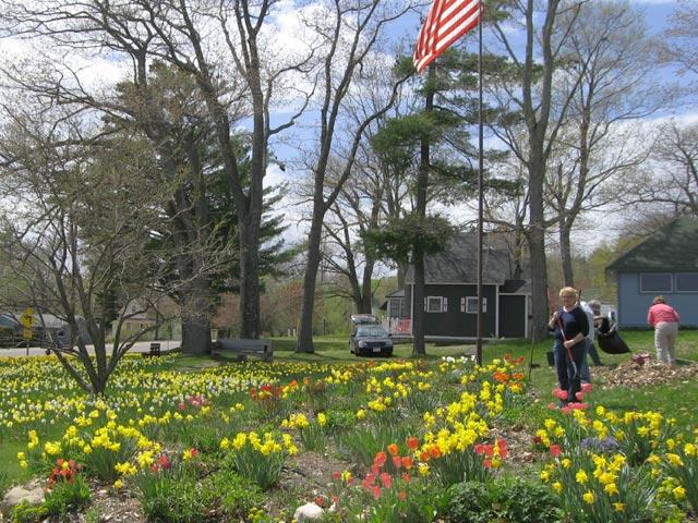 Bayfield, WI spring garden
