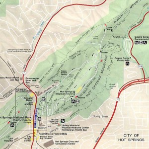 Map of hiking trails hot springs national park
