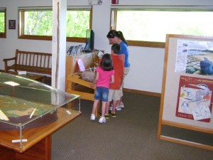visitor center exhibits Effigy Mounds National Park