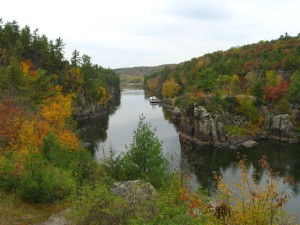 Scenic view of Interstate Park Gorge of the St. Croix National Scenic River