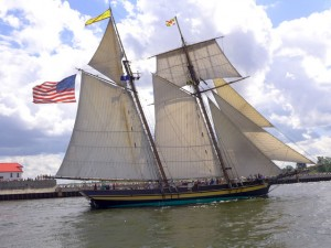 The Pride of Baltimore II is a replica of Commander Perry's vessel that fought in the War of 1812