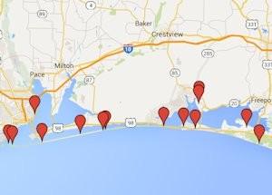 gulf scenic drive map