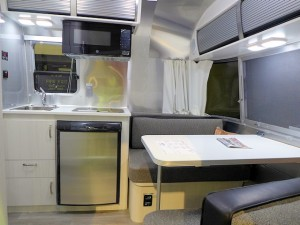 stylish kitchen of the Airstream Bambi