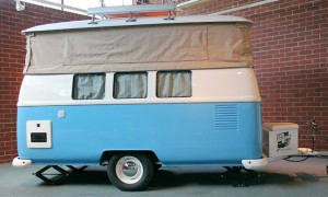 VW bus style travel trailer