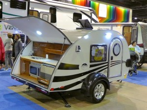 Pod or teardrop trailers like this Tab are offering stylish and compact camping alternatives to tents.