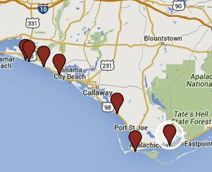 See our detailed Google Map of part 2 of 30A Scenic Gulf Drive.