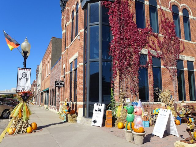 Downtown Wabasha decorated for the annual SeptOberFest.