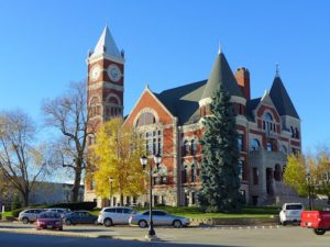 1891 Green County Courthouse with its 120 foot high clock tower (that actually works)