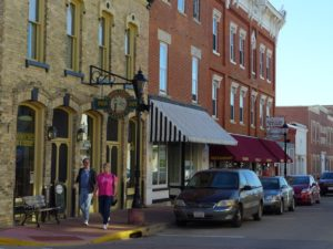 Most of downtown Shullsburg retains many of its buildings built between 1850 and 1900.