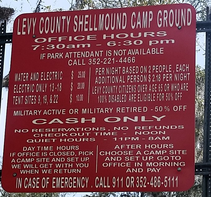 Shell Mound 2020 Rates