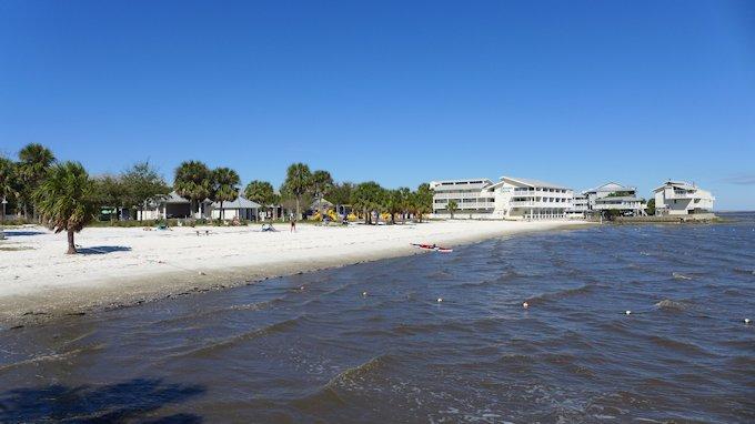 Cedar Key Beach and City Park Florida Gulf Coast.