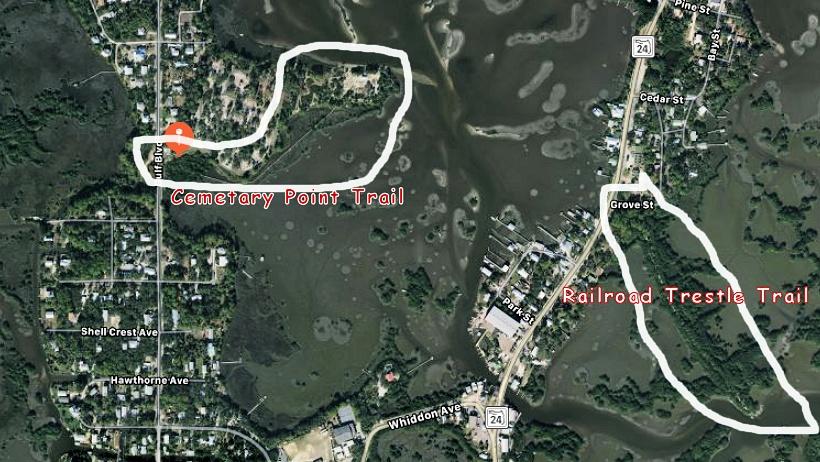 Hiking & Nature Trails Cedar Key Florida.