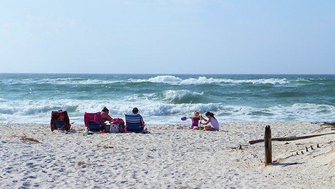 sugar sand beach at Fort Pickens on Santa Rosa Island
