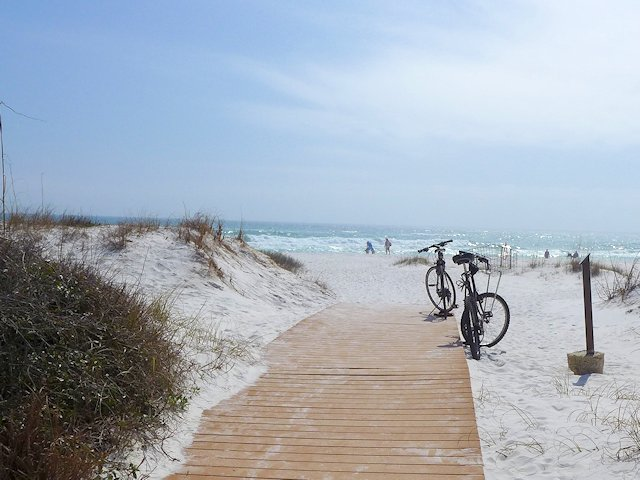 Biking at Fort Pickens