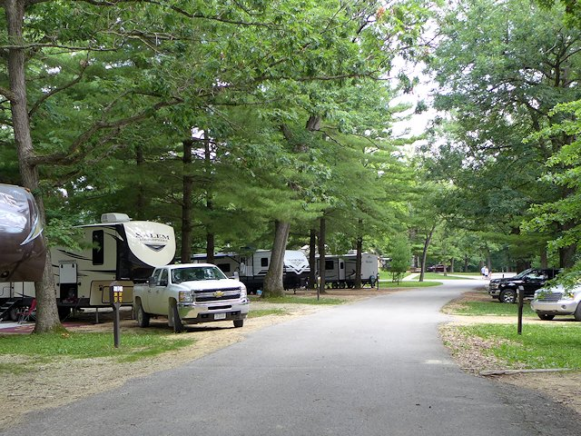 campsites at Pikes Peak State Park