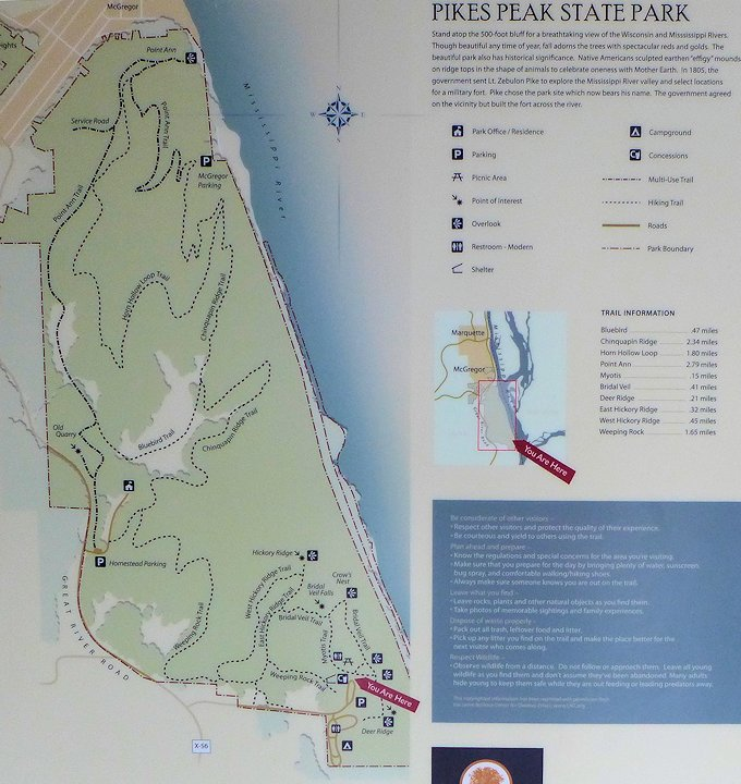 Pikes Peak Trail Map