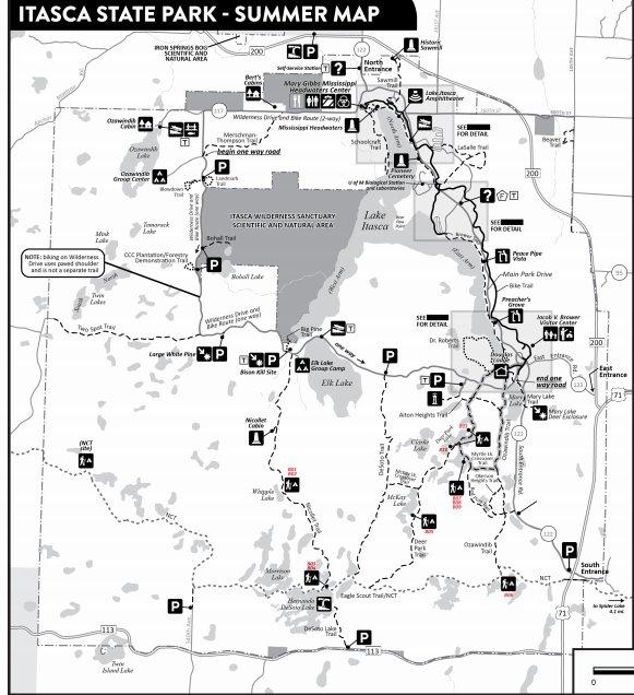 Itaska State Park Map
