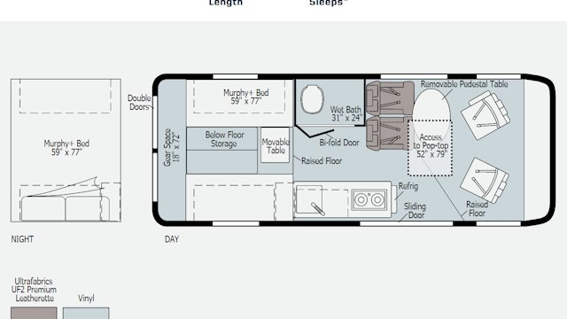 Winnebago Solis 59PX floorplan