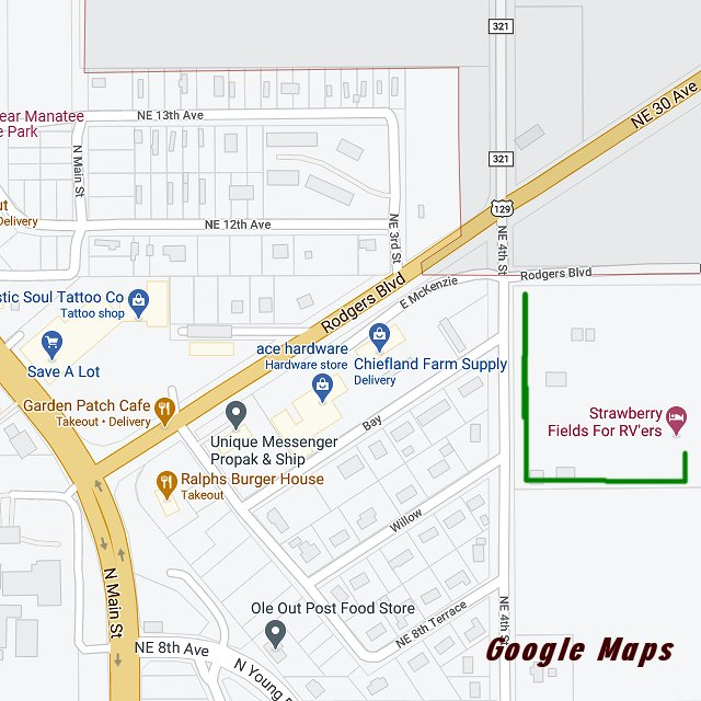 strawberry fields map of directions